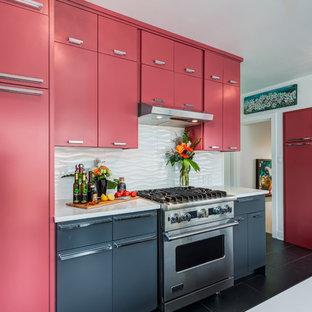 75 Beautiful Modern Pink Kitchen Pictures Ideas December 2020 Houzz