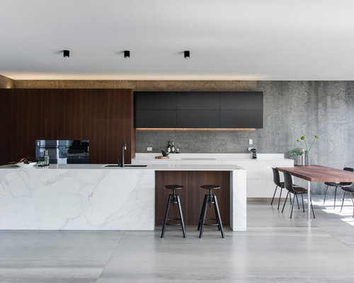 Modern kitchen design ideas remodel pictures houzz for Photos of new kitchen designs