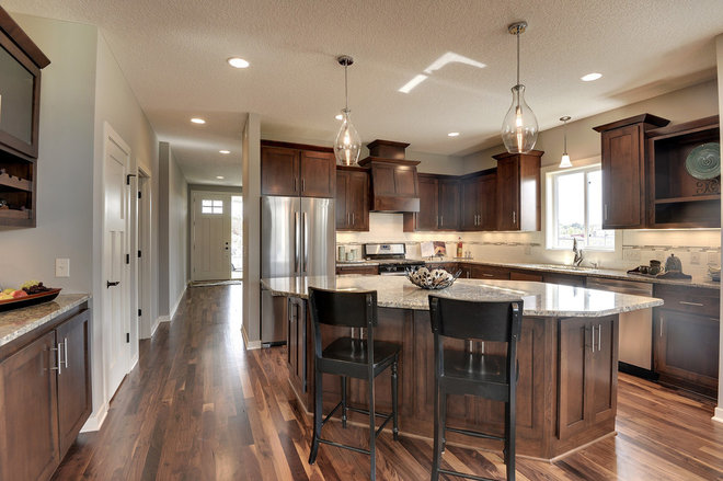 Transitional Kitchen by Iverson Homes