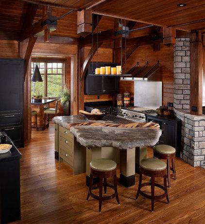 Rustic Kitchen by Barnard  & Speziale   The Interior Design Company