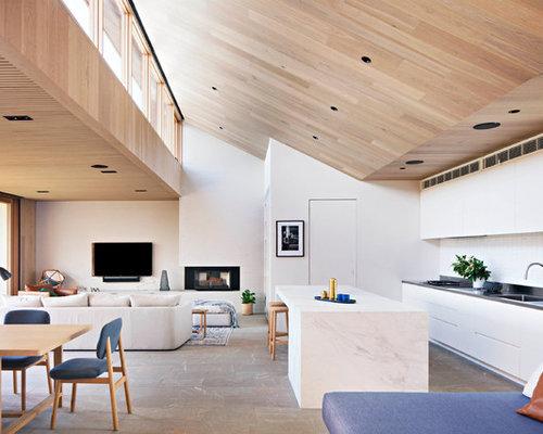 Houzz Modern Open Plan Kitchen Design Ideas Remodel Pictures