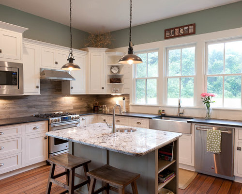Wood tile backsplash houzz