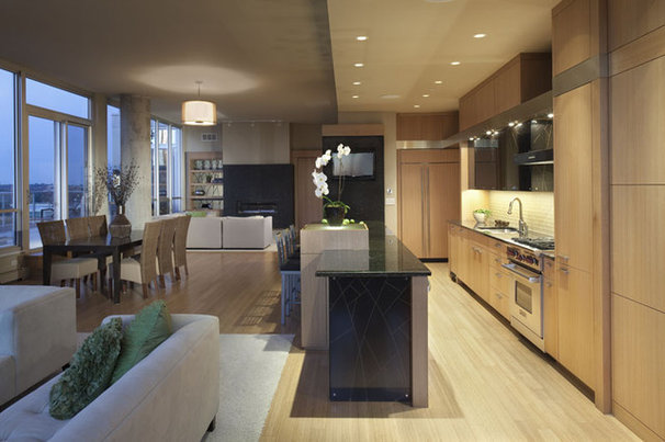 Contemporary Kitchen by The Woodshop of Avon