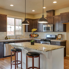 Transitional Kitchen by Marnella Homes