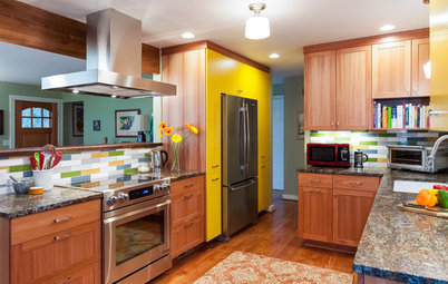 Throwback Kitchen Gains Countertop Space, Color and Smart Storage