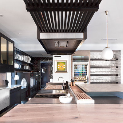 Transitional Kitchen by Leon House Design