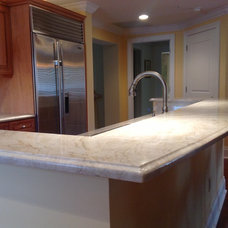 Traditional Kitchen by Kunstler Stone Marble &Granite