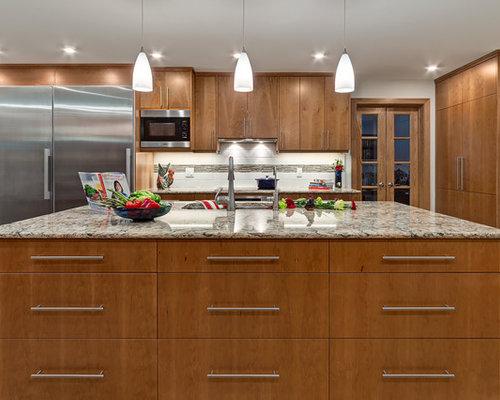 Scandinavian Kitchen Diner Design Ideas Renovations Photos With Glass Tiled Splashback