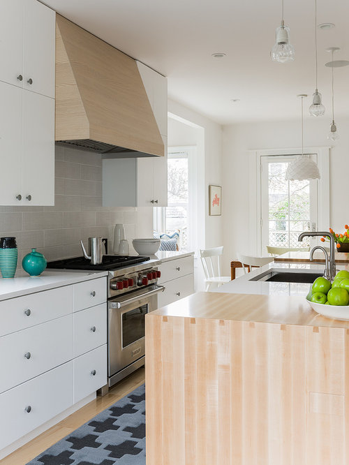 Porcelain Tile Backsplash Material Scandinavian Kitchen Photos Houzz