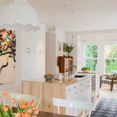 Transitional Kitchen by Terrat Elms Interior Design