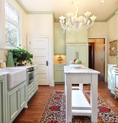eclectic kitchen by Garrison Hullinger Interior Design Inc.