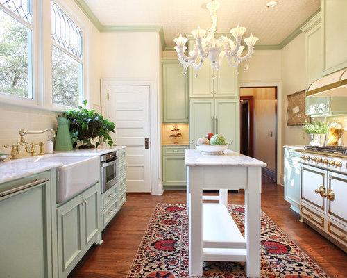 Cucina vittoriana con ante verdi foto e idee per ristrutturare e