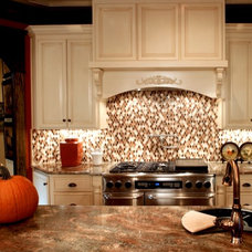 Traditional Kitchen by TILE COLLECTION INC