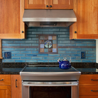 Tile Mural Behind Stove