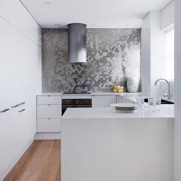 Tile: UBIQUITY Stainless Steel Brushed Finish