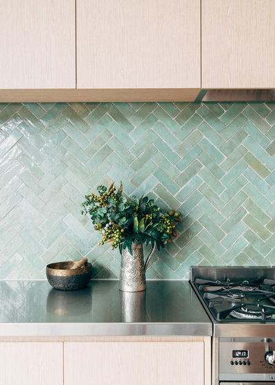 Contemporary Kitchen by Tiles of Ezra