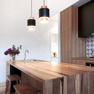 Inspiration for a contemporary kitchen in Melbourne.