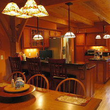 Craftsman Kitchen by Homestead Timber Frames