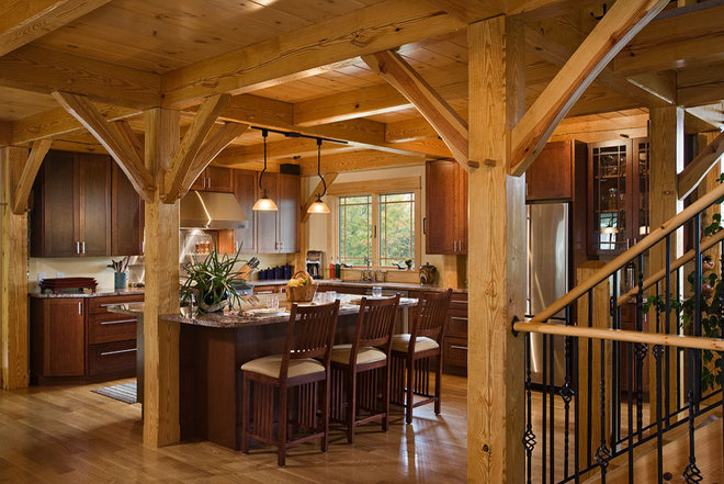 Contemporary Kitchen by Woodhouse Post & Beam Homes