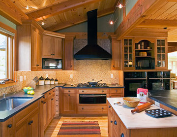 Timber Frame Transitional Kitchen