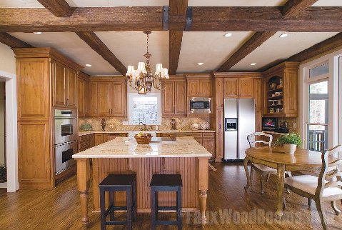Kitchens With Faux Wood Beams