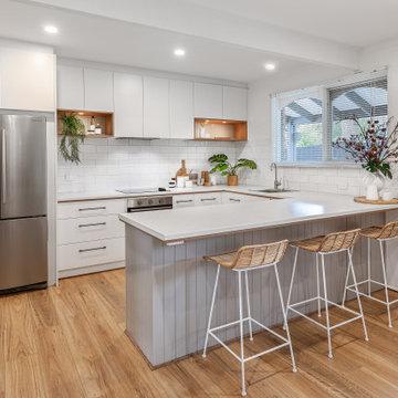 Timber White & Grey Kitchen with a Coastal Vibe