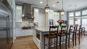 Timeless Gray and White Kitchen in Frisco