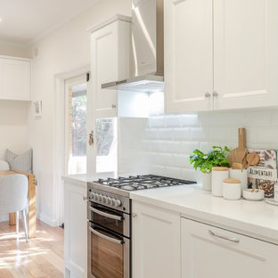 Timeless Timber and White Open Plan Kitchen- Dining- Laundry