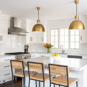 Timeless White Kitchen in New Canaan