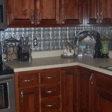 Traditional Kitchen Tin Backdrop Southern Kitchen