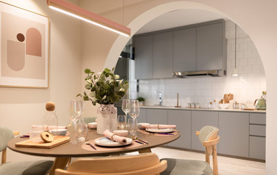 Houzz Tour: 4-Room Flat is Soft and Scandi-Sweet in Pastels