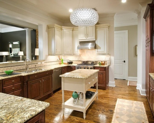 Two Tone Kitchen Home Design Ideas, Pictures, Remodel and Decor