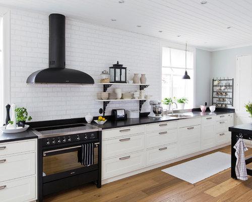 skandinavische küchen mit schrankfronten im shakerstil
