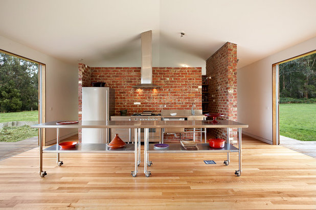 Industrial Kitchen by Maxa Design