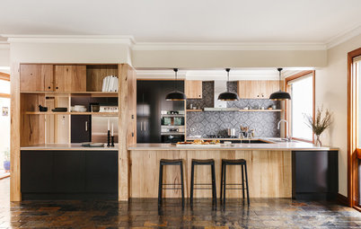 A Fixed Beam Doesn't Thwart This Kitchen Face-Lift