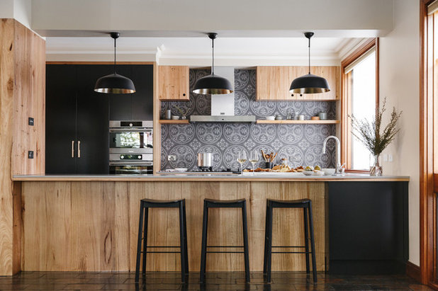 Transitional Kitchen by Space Craft Joinery