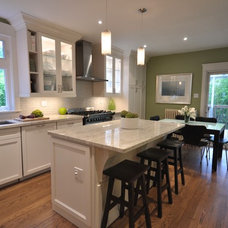 Transitional Kitchen by Rhonda Moscoe Interior Design