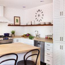 Transitional Kitchen by beth kooby design