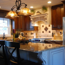 Traditional Kitchen Touch of color