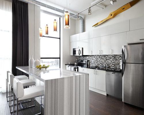 Modern loft kitchen home design ideas pictures remodel and decor - Modern loft decor ...