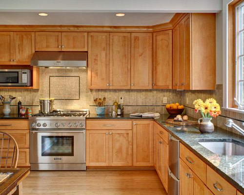 Maple Cabinets Home Design Ideas, Pictures, Remodel and Decor on What Color Countertops Go With Maple Cabinets  id=39404