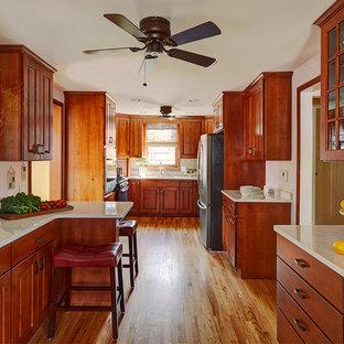 Traditional Alder Galley Kitchen