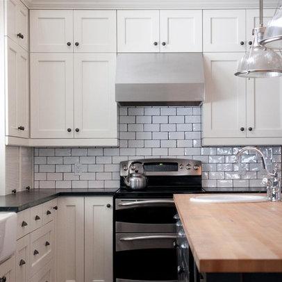white subway tile dark grout house inspiration kitchen pinterest