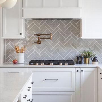 Traditional Grey Herringbone Kitchen
