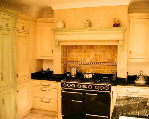 Surrey Kitchen With Terracotta Splashback Design Ideas