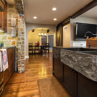 Traditional House Remodel with Rustic Dining Room