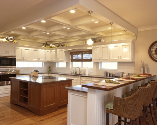 Elegant Kitchen Photo In New York With Recessed Panel Cabinets, White  Cabinets, White Part 11