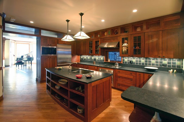 Traditional Kitchen by Amish Custom Kitchens
