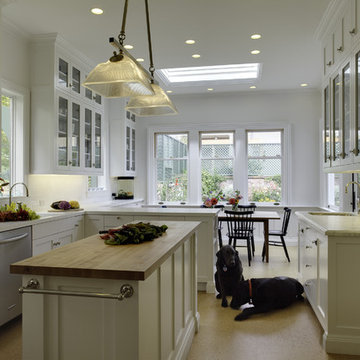 Traditional kitchen and addition