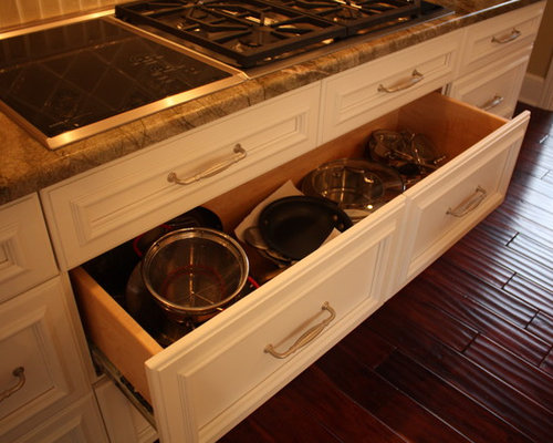 Kitchen Drawers For Pots And Pans pot pan drawer | houzz